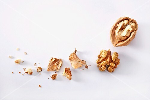 A cracked walnut