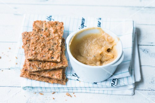Chickpea and curry spread with mango chutney