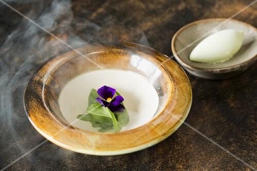 Celery, coconut and cabbage sorbet, Vue de Monde restaurant and wine cellar, Melbourne, Australia