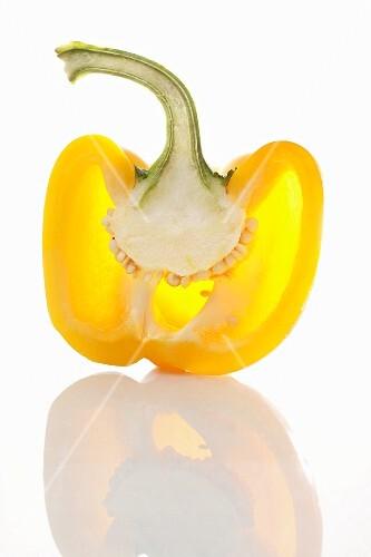 Half a yellow pepper