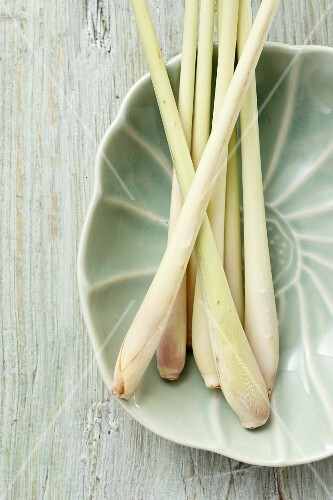 Lemongrass in a ceramic bowl