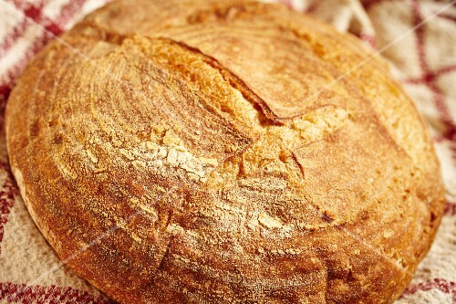 A round loaf of sourdough bread loaf Vermont, USA