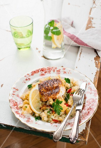 Fish with cauliflower couscous