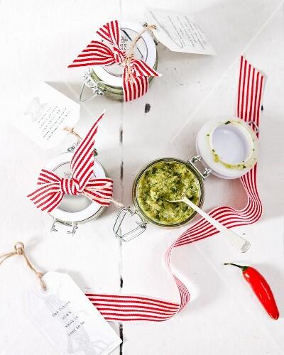 Salsa verde with chilli
