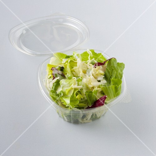 A mixed leaf salad with a herb dressing to take away