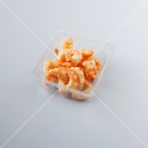 Ready-to-eat prawns from the fridge