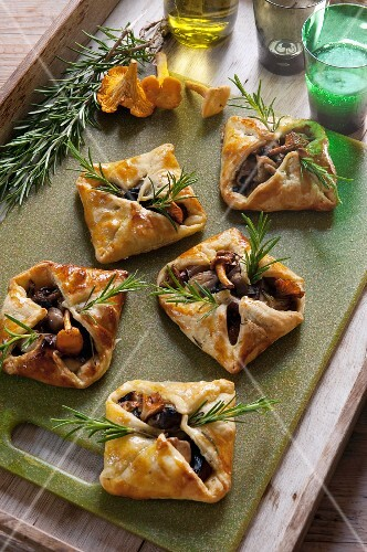 Mushroom parcels with rosemary