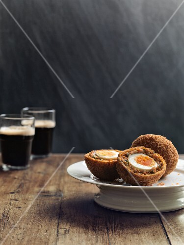 Scotch eggs and Guinness (Great Britain)