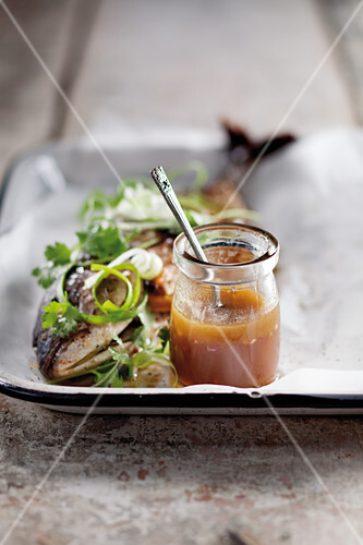 Orange tamarind dressing for fish