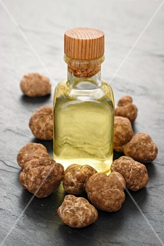 Truffle oil and fresh truffles