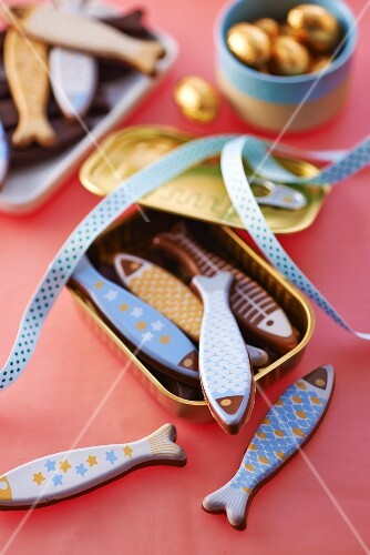 Chocolate fish for Easter