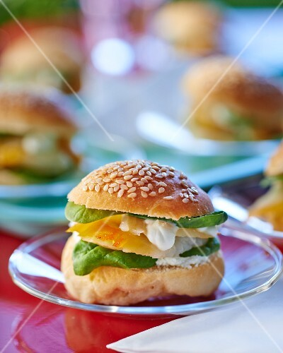 A haddock burger with spinach