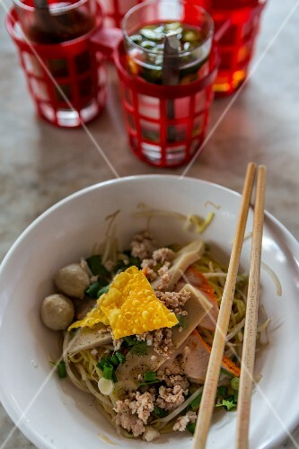 Noodles with pork (Hua Hin, Thailand)