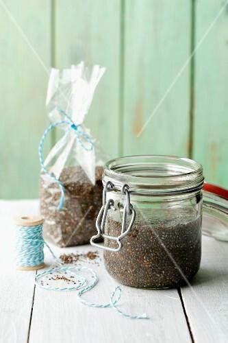 Homemade chia seed gel