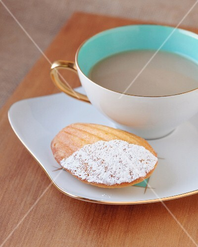 A madeleine and a cup of tea