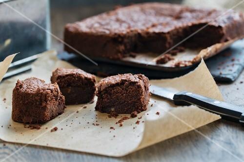 Chocolate brownies (milk-free, gluten-free, nut-free)