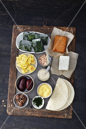 Ingredients for quick vegetarian dishes