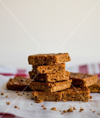 A stack of peanut slices