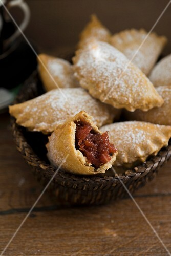 Empanadas with guava and icing sugar (Caribbean)
