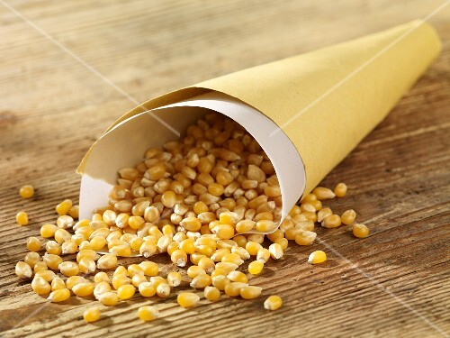 Popping corn in a paper bag