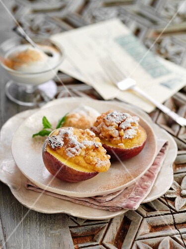 Peaches filled with amaretti (Italy)