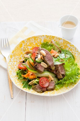 Beef salad with peanuts (Thailand)