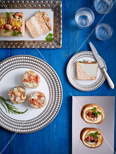 Selection of seafood appetisers
