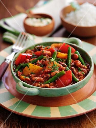 Five bean chilli