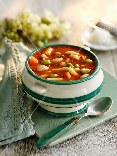 Vegetable soup with pistou (Provence, France)
