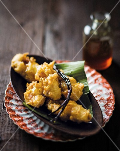 Banana fritters with coconut, vanilla and lime syrup (Madagascar)