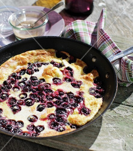 A summery blueberry pancake