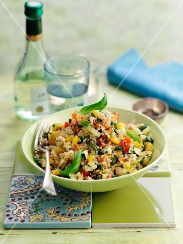 Quinoa pilau with vegetables