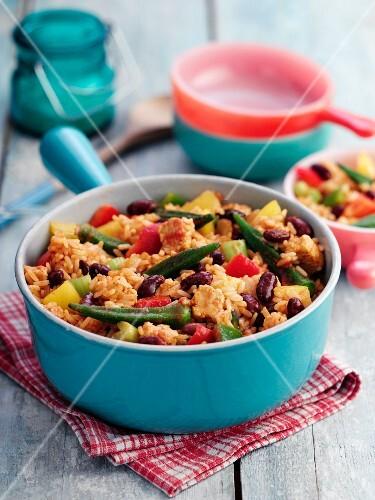 Jambalaya with vegetables