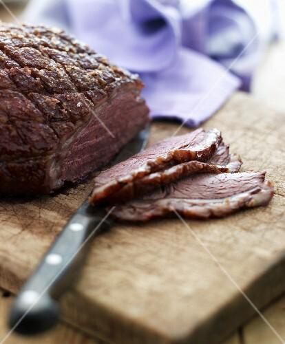 Crispy roast lamb