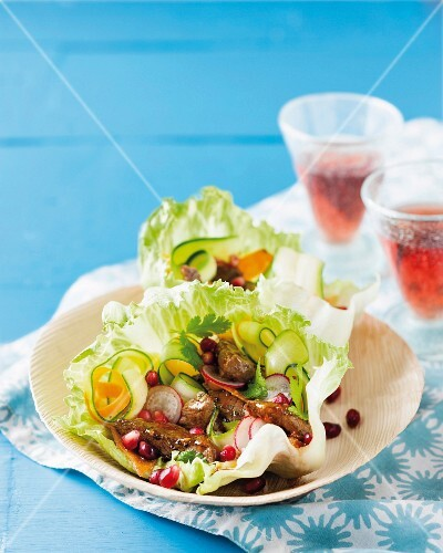 Beef salad with pomegranate seeds (Morocco)