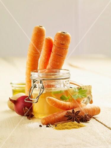 Zutaten für Karottensuppe