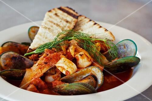 Cioppino (fish stew, California)