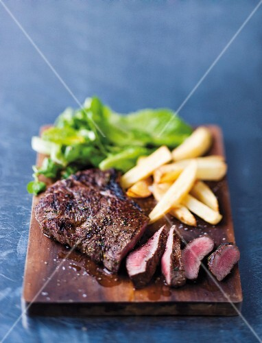 Beef steak with a beer marinade