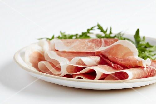 Parma ham with rocket