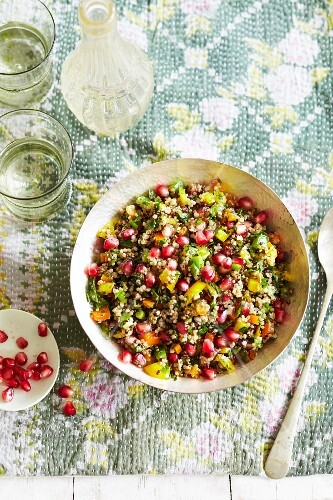 Couscous with pomegranate seeds