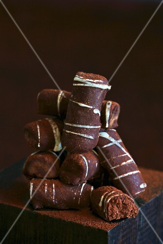 A stack of pralines