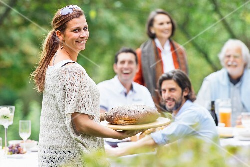 People at a garden party