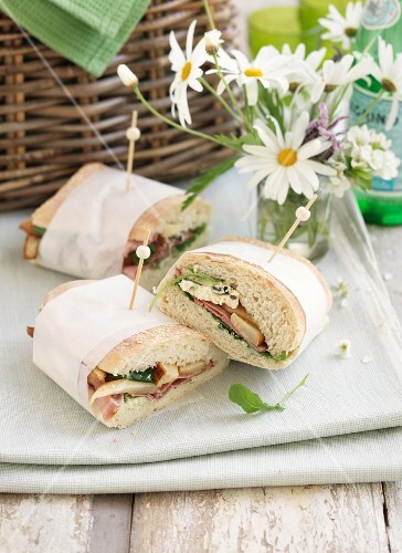 Sandwiches for a picnic