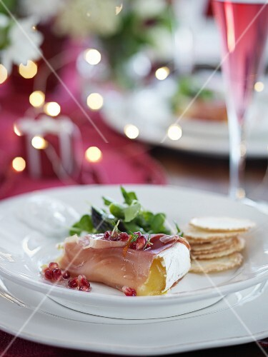 Brie wrapped in ham (Christmas)