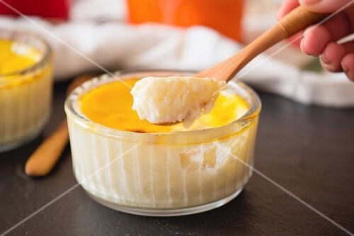Turkish rice pudding