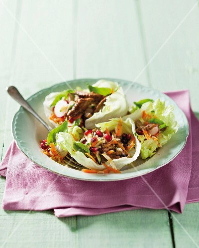 Moroccan salad with beef