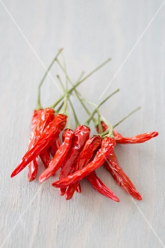 Dried red chilis