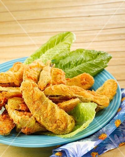 Deep-fried gherkins