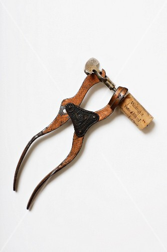 A Lund corkscrew, model The Patentee, London, patent from 1855 (Von Kunow Collection)