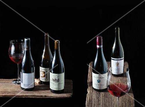Five bottles of Spätburgunder: Schnaitmann, Württemberg - H. J. Kreuzberg, Ahr - Reinhold & Cornelia Schneider, Baden - Karl H. Johner, Baden - Horst & Petra Konstanzer, Baden